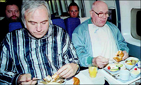 Jim Traficant and John Demjanjuk on Plane