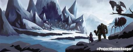 Concept art: Ice cavern dungeon