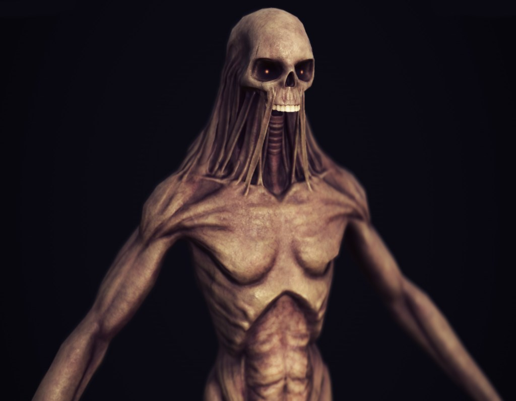 Render of a Ghoul from Depths of Erendorn with dramatic lighting