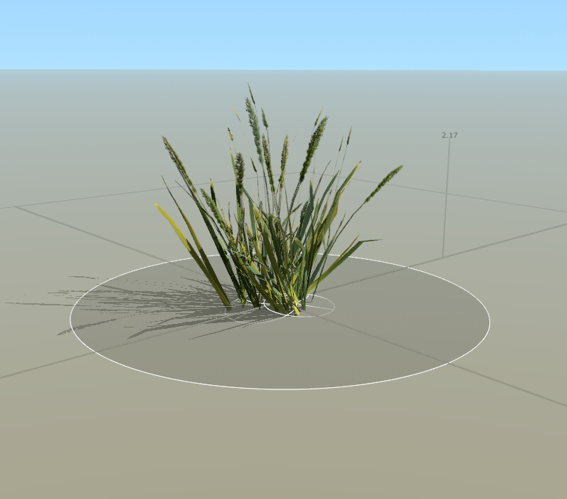 Wild grass cluster in Unity