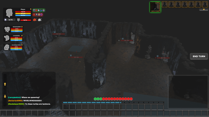 Screenshot from Depths of Erendorn showing the GUI blockout