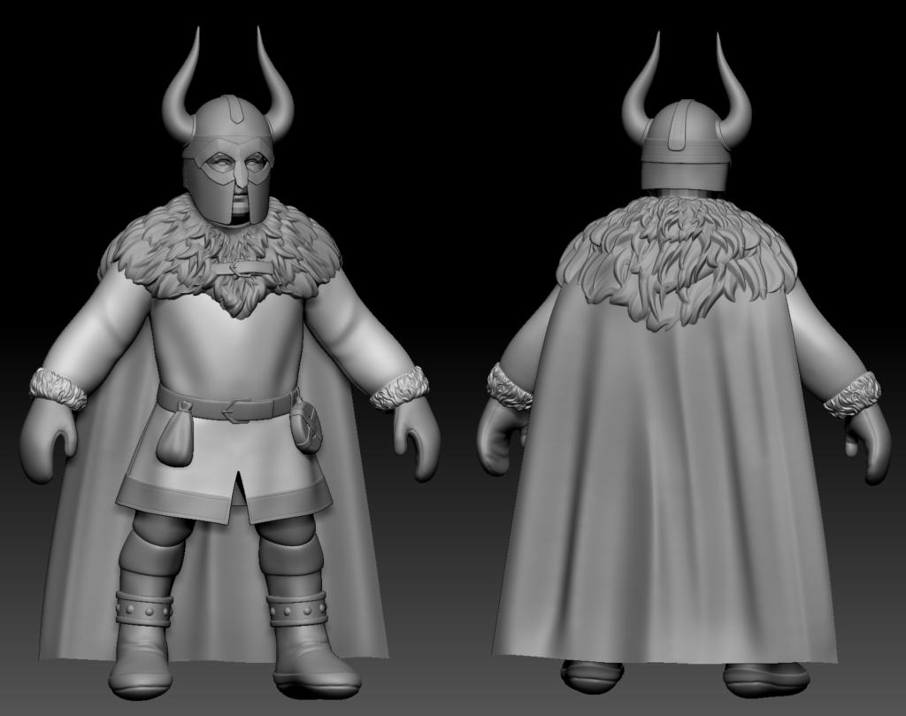 3D sculpt of a Frost Dwarf Guard from Depths of Erendorn