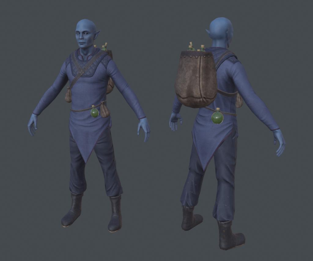 3D model of Twilight Elf Merchant from Depths of Erendorn