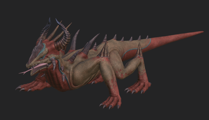 Texture model of Spiny Lizard from Depths of Erendorn