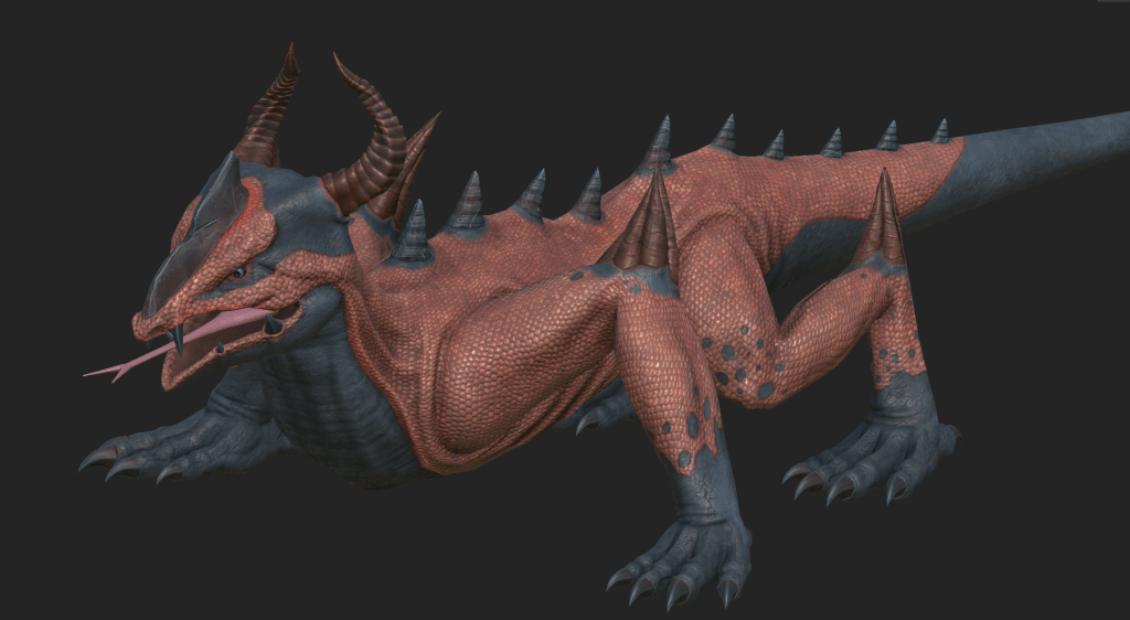 Texture model of Thorny Lizard from Depths of Erendorn