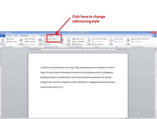change referencing style of your research with ease using Mendeley