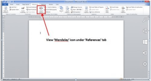 once plugin is installed one can see it in the word document