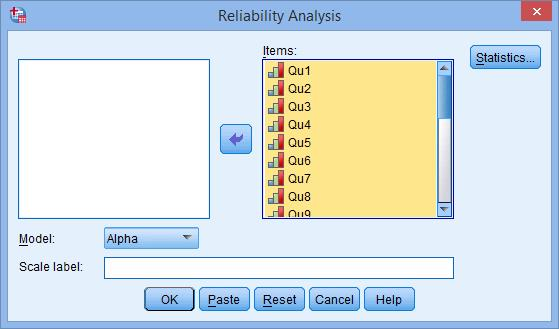 Reliability test in SPSS using Cronbach Alpha | Knowledge Tank