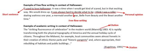 Difference between academic or scholarly writing and promotional content writing