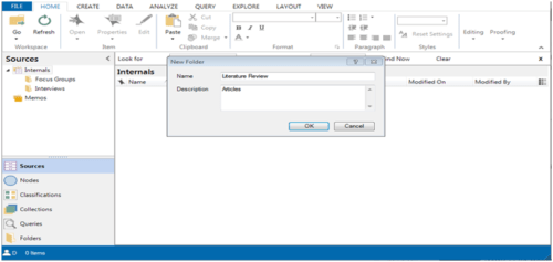 Review articles can be imported in Nvivo using this option