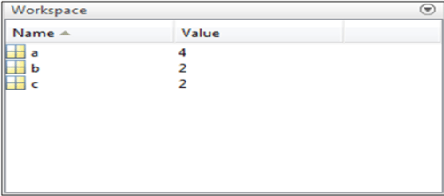 displaying of the values of the variables added in the first section