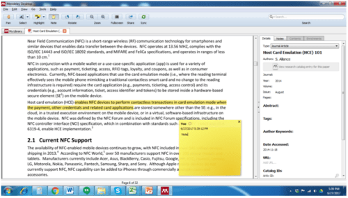 one can highlight and make notes in Pdf files saved in Mendeley
