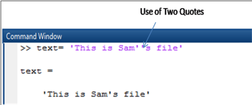 displaying the single quote in matlab