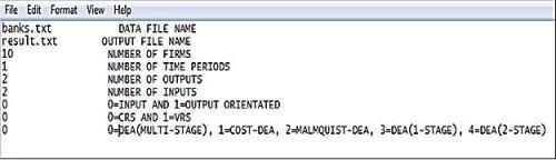 The DEA instruction file