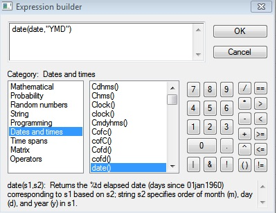 Figure 6: Creating a new variable in STATA