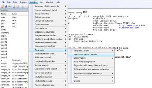 Figure 1: Path for ARIMA modeling in STATA