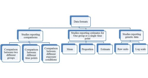Different categories of data entry formats in CMA