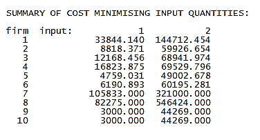 Cost minimizing summary