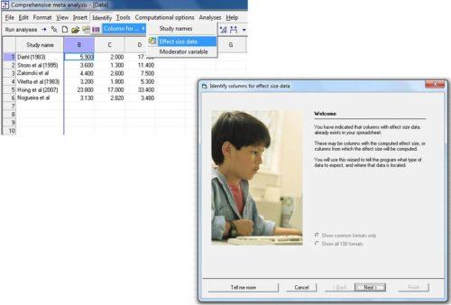 Proceeding towards effect size data identification