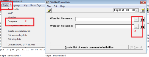 Figure 1: Comparing wordlist steps