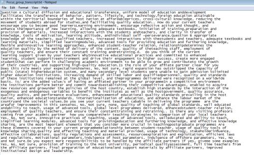 Figure 2: Example of good transcript for Hamlet II