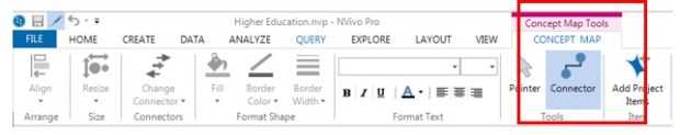 Figure 6: Concept map tools in Nvivo