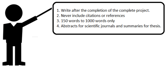 Points to remember while writing abstract and summary