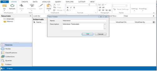 This allows to import sources from interview transcripts