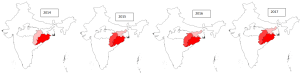 Prevalence of malaria in major states of India