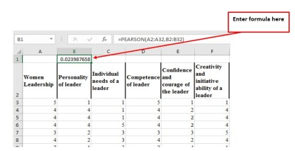 Pearson Coefficient Value computation in MS Excel