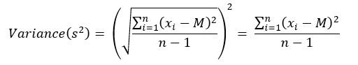 Variance formula