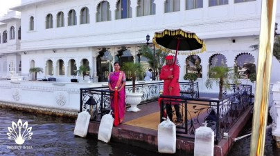 Taj Lake Palace welcome