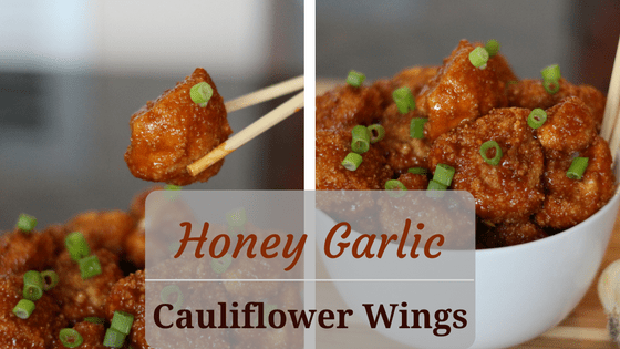 Honey Garlic Cauliflower Wings