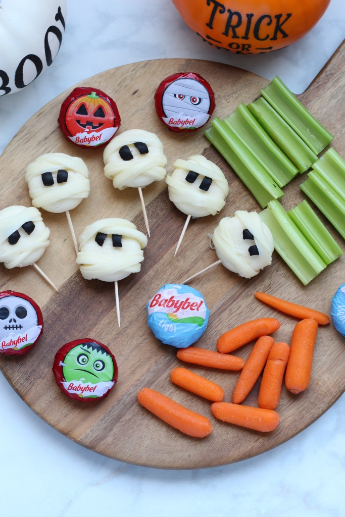 halloween babybel cheese mummy