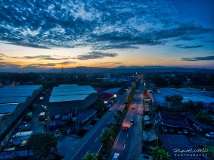 Stunning Golden Hour Aerial View of Cagayan de Oro
