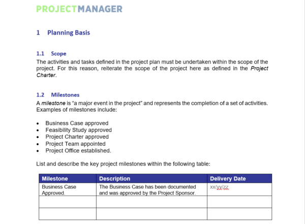 Most support dei, but don't know how to implement it. Project Plan Template For Word Free Download Projectmanager Com