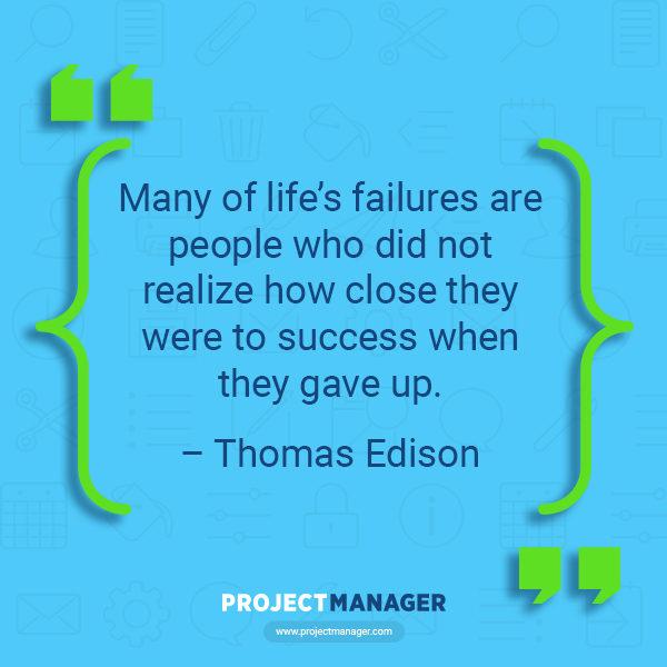 Cita de negocios de Thomas Edison
