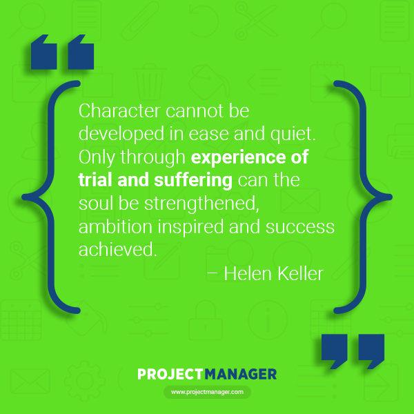 Cita de negocios de Helen Keller