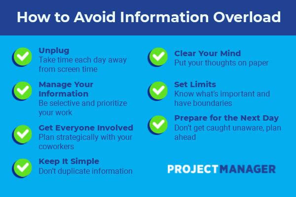 cómo manejar la sobrecarga de información