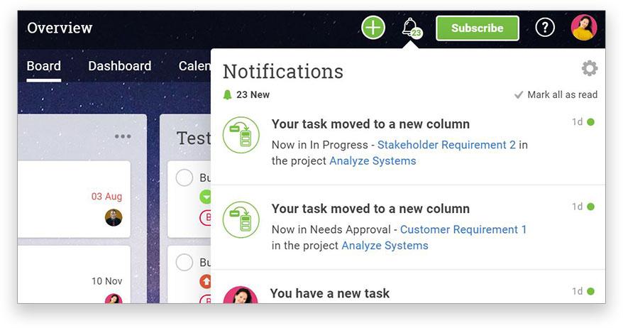 Las notificaciones dentro de la aplicación lo mantienen actualizado