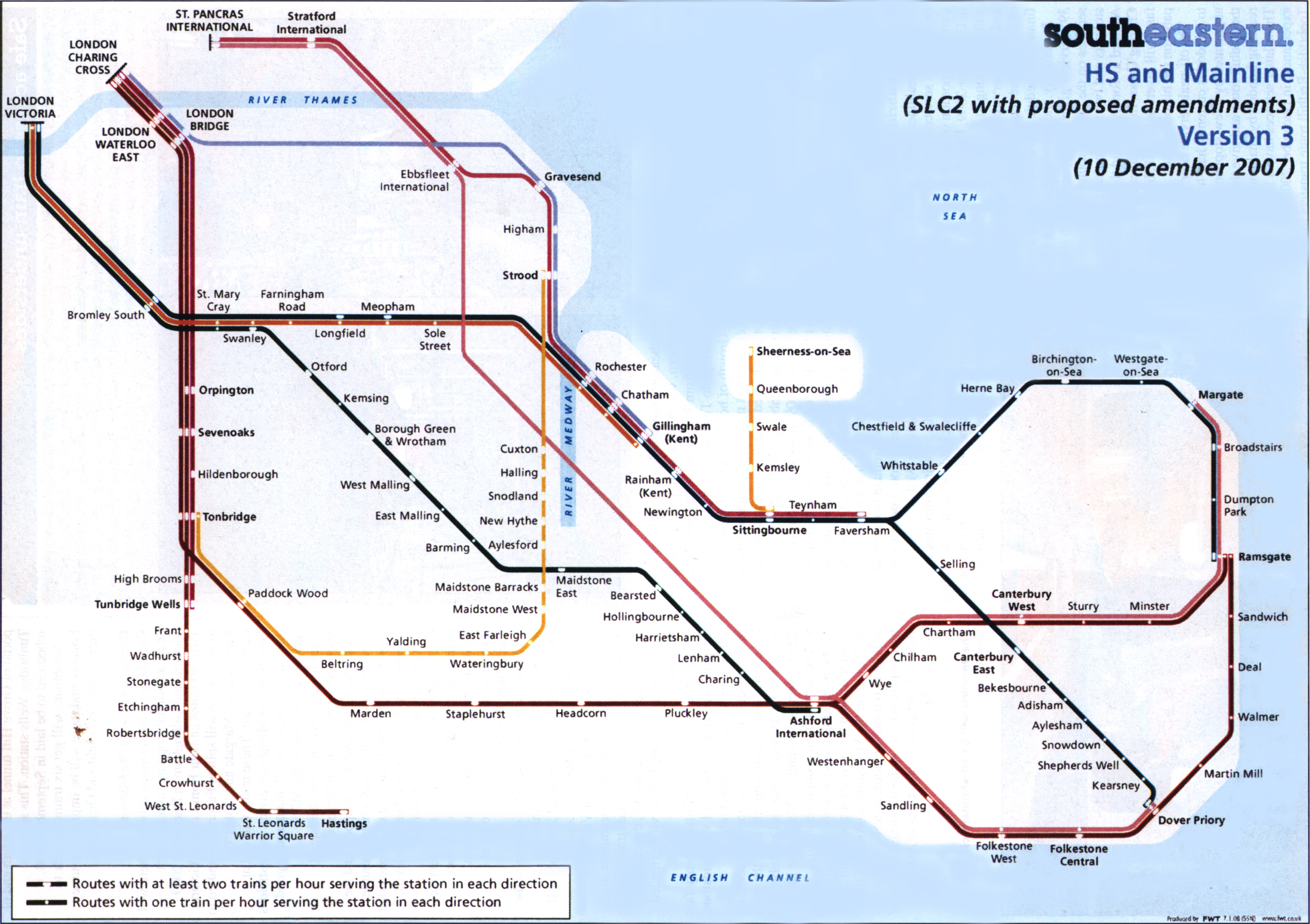 South Eastern Train Rail Maps