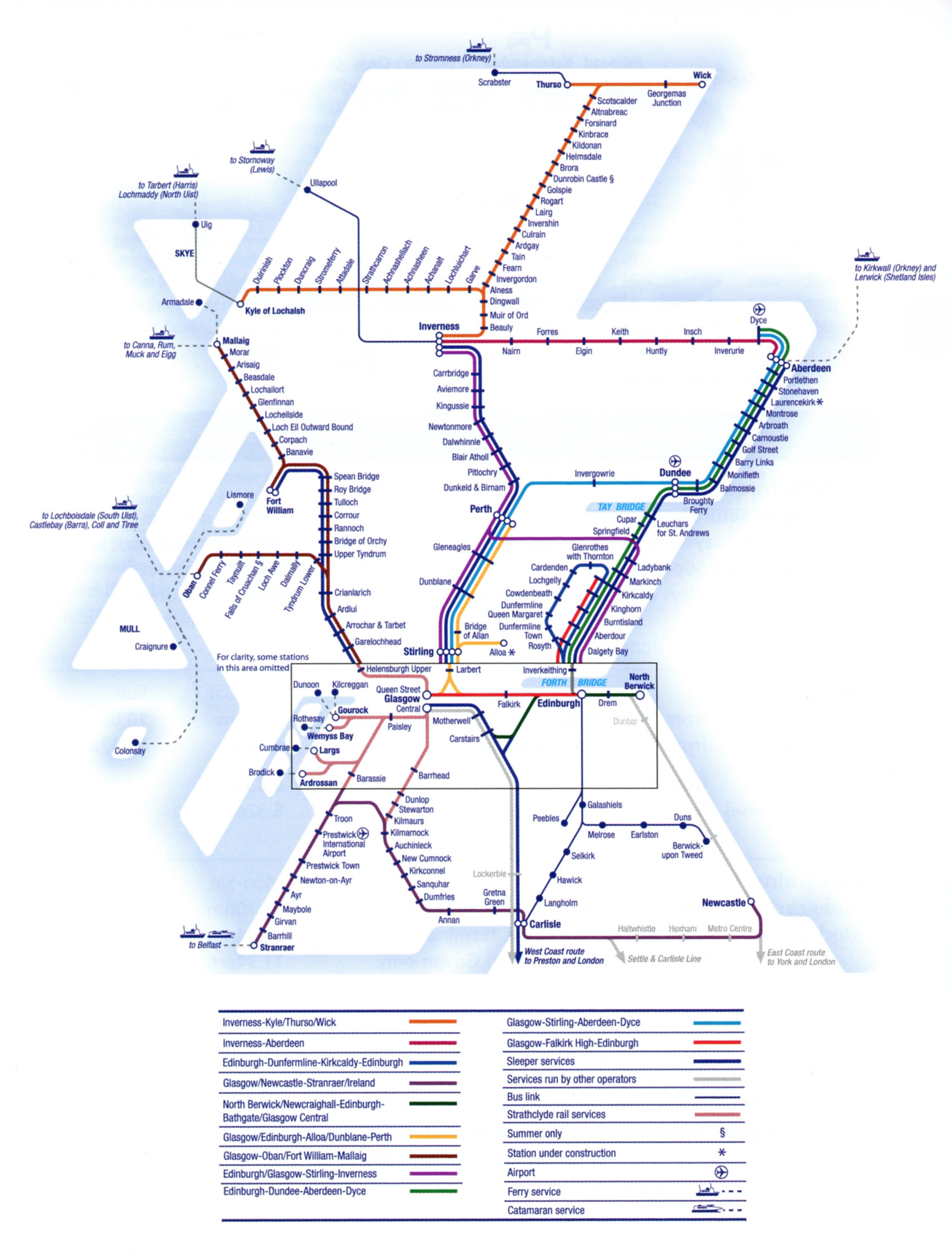 Scotland And Scotrail Train Rail Maps
