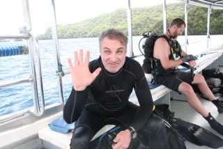 getting ready for a dive in palau with bentprop.org