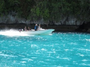 boating in palau