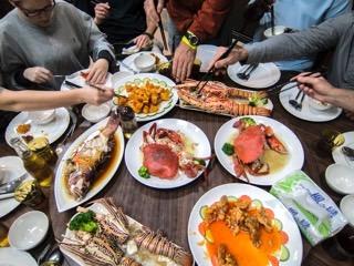 bentprop team enjoying chinese food in palau