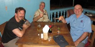smoking cigars on palau withe the bent prop crew