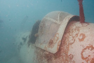 rear view of corsair cockpit