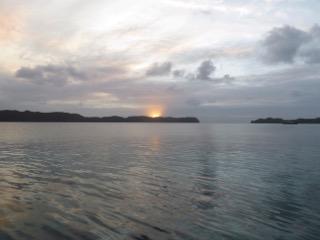 end of day sunset palau