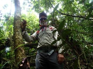 pat scannon in mangroves palau with bentprop.org