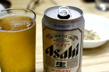 asahi beer and sushi in palau